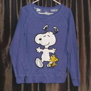 "Snoopy ""Joe Cool"" reversible sweatshirt size M"